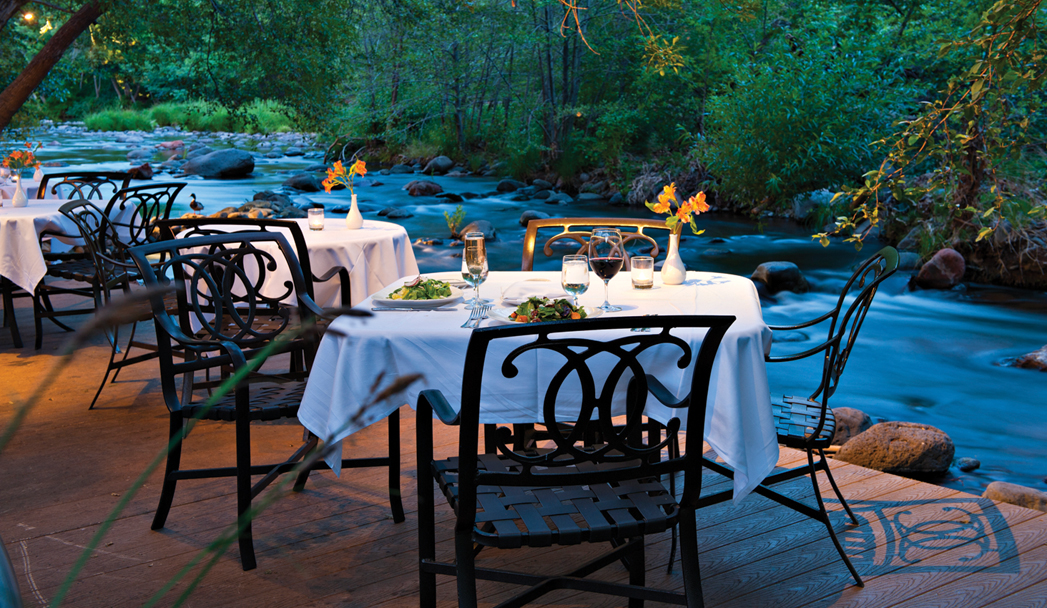 There S No Restaurant Location In All Of Sedona Maybe Even Arizona That Compares With L Auberge On Oak Creek Though The Indoor Dining Room