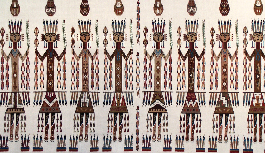 From The Family Collection In Sedona I Am Offering This Genuine Navajo Rainbow Yie 55 X35 Rug Was Decribed By Raiser As Quite Old And