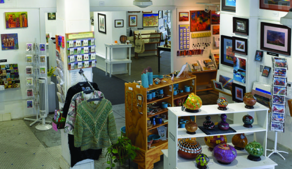 Eclectic mix of art in a Sedona art gallery