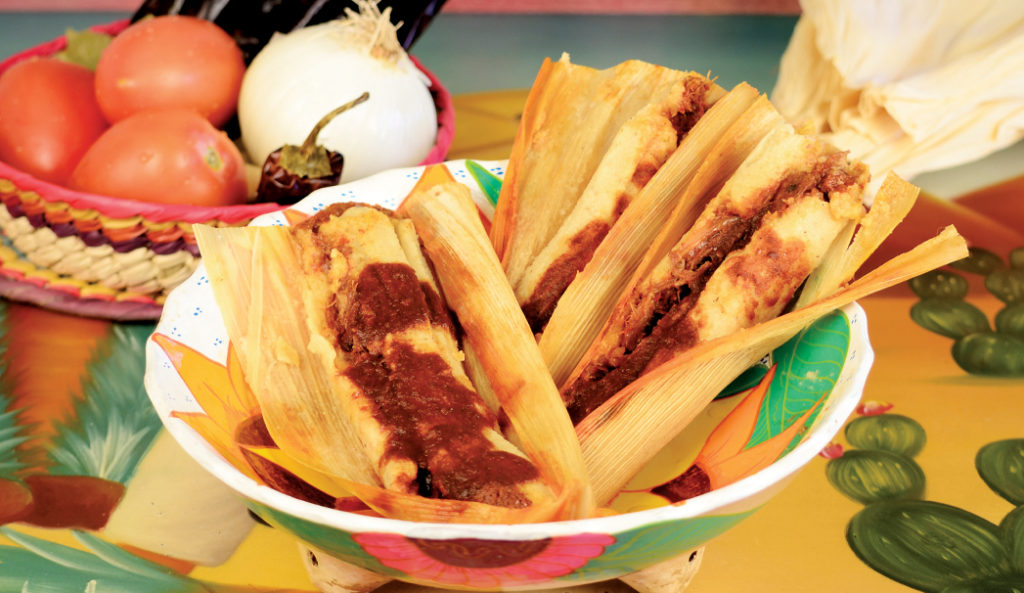 Beef and Onions Tamale